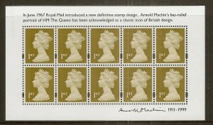 GB 2011 Arnold Machin Mini Sheet MS3222 MNH
