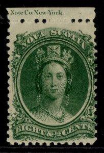 CANADA - Nova Scotia QV SG26, 8½c deep green, M MINT. Cat £23.