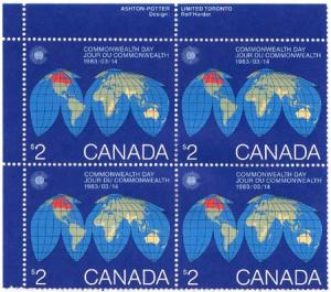 Canada - 1983 $2 Commonwealth Day UR Imprint Blk mint #977 VF-NH