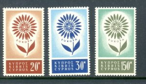 Cyprus 244 to 246 complete set - mlh Europa stamps