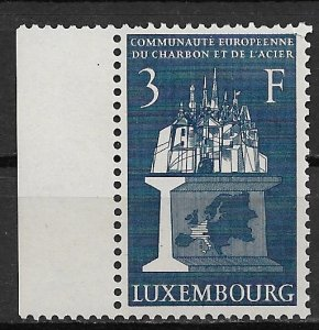 1956 Luxembourg #316  3f European Coal and Steel Community MNH SCV$12.00