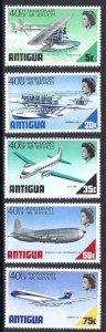 ANTIGUA 232-236 MNH SCV $5.70 BIN $3.40 AIRPLANES