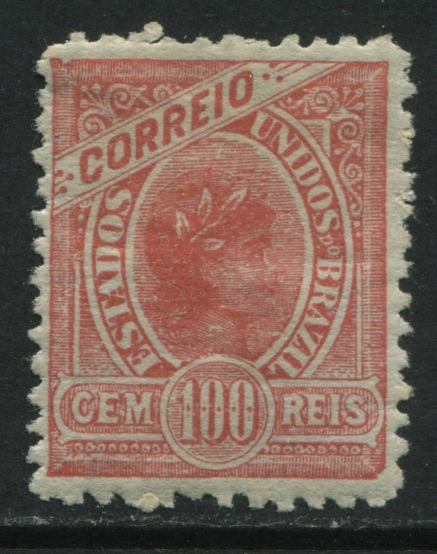 Brazil 1905 100 reis rose mint o.g. hinged