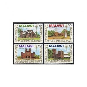 Malawi 558-561,MNH.Michel 541-544. Christmas 1989.Churches,Cathedrals.