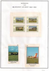 SCOTLAND - BERNERA - 1983 - Light Aircraft (2) - 4v Perf, Min, D/L Sheets - MLH