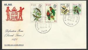 FIJI 1971 values to $1 on commem FDC.......................................25545