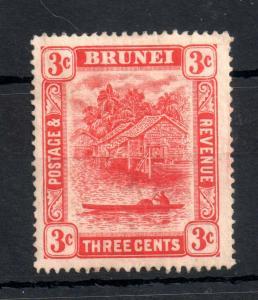 Brunei 1908-22 3c MCCA SG#38 mint MH Type II WS13112