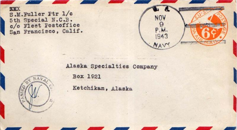 United States Fleet Post Office 1943 Postal History