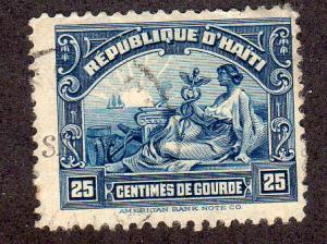 Haiti 314 - Mint-H - Allegory of Commerce (cv $0.30)