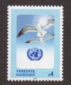 United Nations Vienna  #168  MNH 1994 birds  herring gulls  4s