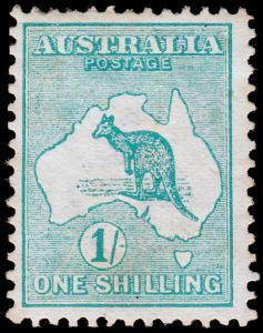 Australia Scott 10 (1913) Mint H F-VF, CV $130.00 M