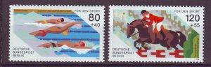 J24988 JLstamps 1986 germany berlin set mnh #9nb232-3 sports