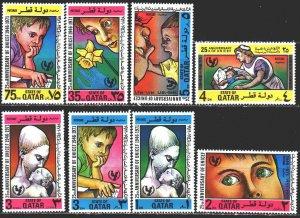 Qatar. 1974. 474-81. UNICEF, children. MVLH.