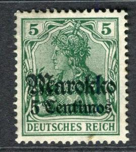 GERMAN COLONIES; MOROCCO 1911 surcharged issue fine Mint hinged 5c.