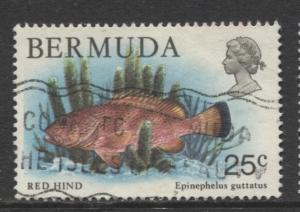 Bermuda - Scott 372 - Birds, Reptiles & Fish -1978 - FU- Single 25c Stamp