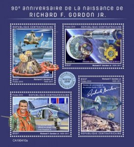 C A R - 2019 - Richard F Gordon Jr - Perf 4v Sheet - MNH