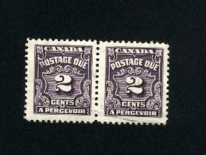Canada #J16  1   used pair  1933-65 PD  .30