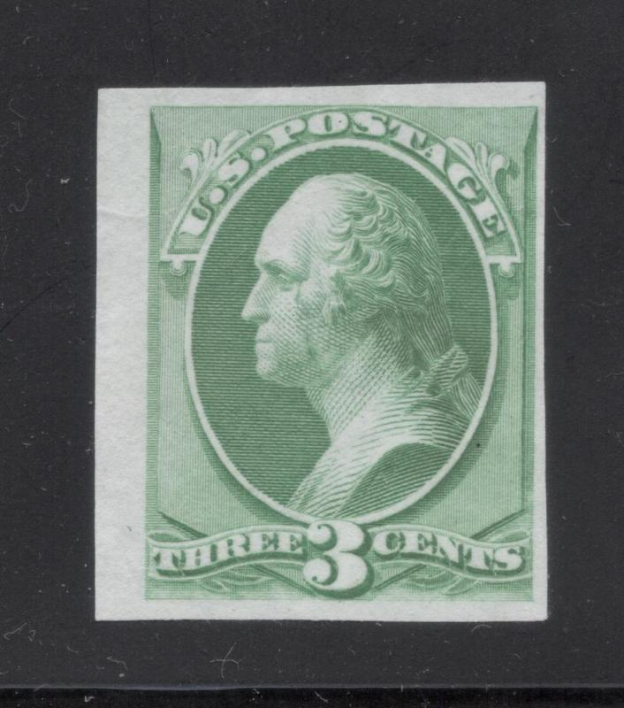 #147P-3 Green - Engraved Plate Proof on India Paper