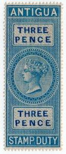(I.B) Antigua Revenue : Duty Stamp 3d (1876)