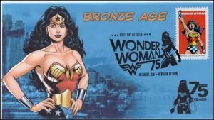 2016, Wonder Woman, Bronze Age, BW Pictorial Postmark, NY NY, 16-286
