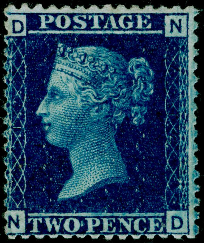 SG45, 2d blue PLATE 12, LH MINT. Cat £3000. ND