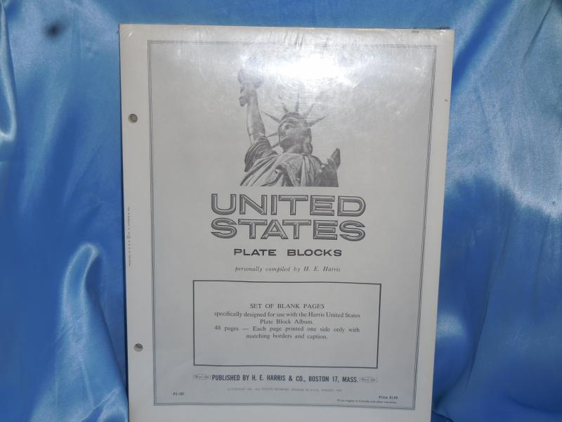 Harris US Plate Block Blanks pages new.