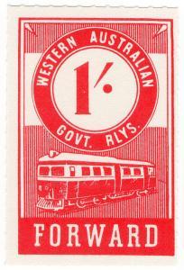 (I.B) Australia - Western Australia Railways : Parcels 1/-