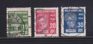Norway 145, 147-148 U Niels Henrik Abel,  Mathematician (C)