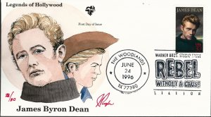 Beautiful Pugh Painted Rebel James Byron Dean FDC -only 30 created...