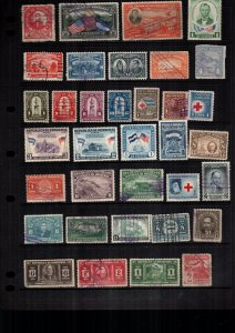 Honduras  34  diff used and mint lot collection