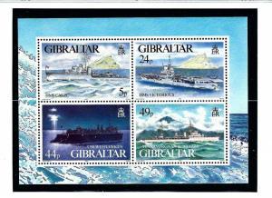 Gibraltar 684 MNH 1995 WWII Warships