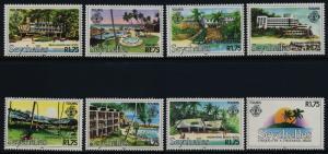 Seychelles 495-502 MNH Tourism, Hotels, Trees
