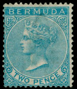 BERMUDA SG3, 2d dull blue, LH MINT. Cat £475. WMK CC
