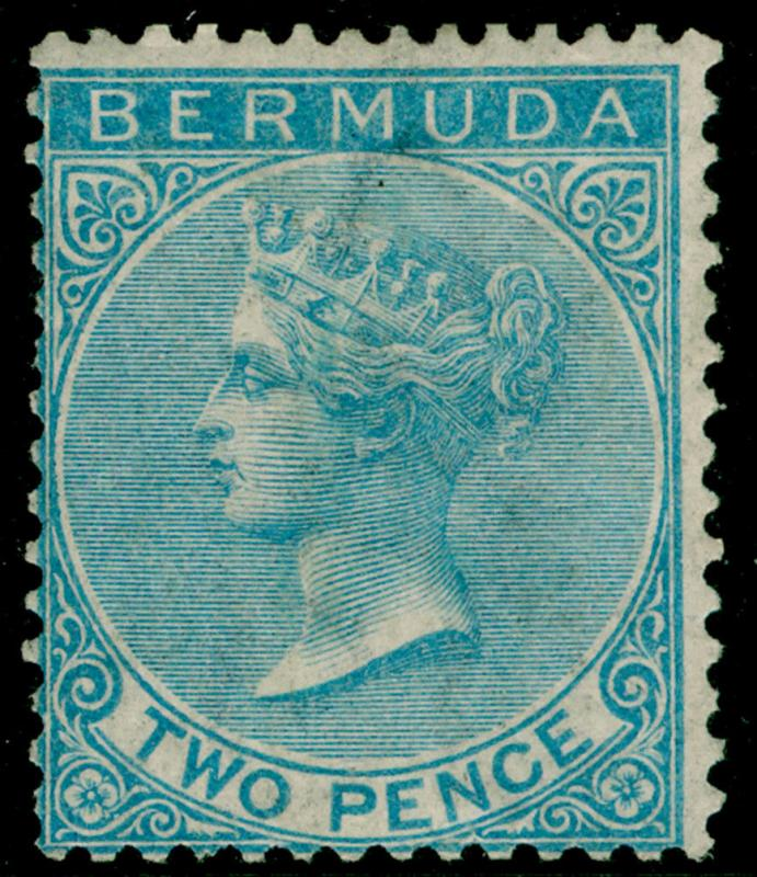 BERMUDA SG3, 2d dull blue, LH MINT. Cat £475. WMK CC