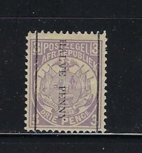 TRANSVAAL- SCOTT #140  1885 SURCHARGE 1/2P ON 3P (VIOLET) - MINT HINGED