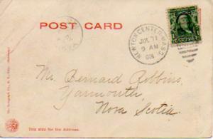 United States Massachusetts Newton Center 1906 numeral duplex  1891-1908  1c ...