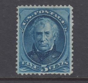 US Sc 179 MLH. 1875 5c blue Zachary Taylor, fresh, F-VF