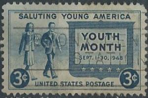 US 963 (used) 3¢ Youth Month (1948)