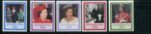 South Georgia MNH 101-5 QE II & Royal Family