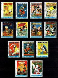 SIERRA LEONE - 1992 - DISNEY - MICKEY - DONALD + MAGAZINE COVERS - 13 X MNH SET!