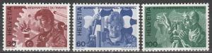 Switzerland #3o105-7 MNH F-VF CV $4.35 (SU3227L)