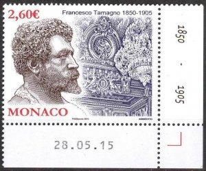 Monaco 2015 Music Opera Singers F. Tamagno MNH**