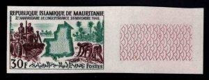 Mauritania Scott 172  MNH**  Imperforate Map stamp