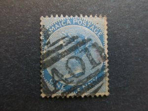 A4P21F15 Jamaica 1883-97 Wmk Crown CA 1d used
