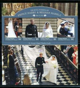 UNION ISLAND  2019 ROYAL WEDDING OF HARRY & MEGHAN  SHEET  MINT NEVER HINGED