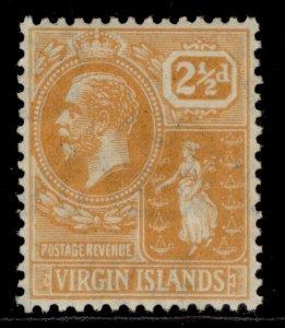 BRITISH VIRGIN ISLANDS GV SG94, 2½d dull orange, M MINT.