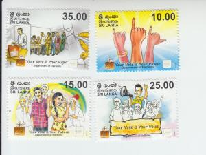 2015 Sri Lanka Election Department (4) (Scott NA) MNH