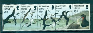 Ascension Is. - Sc# 430. 1987 Birds. MNH Strip. $11.00.
