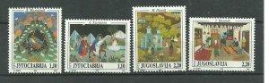YUGOSLAVIA 1995  Naive art SET MNH