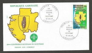 1981 Gabon Boy Scouts overprint World Conference FDC